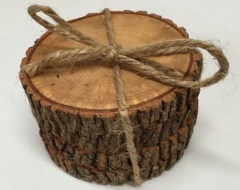 Ash Coaster Set, Reclaimed Wood