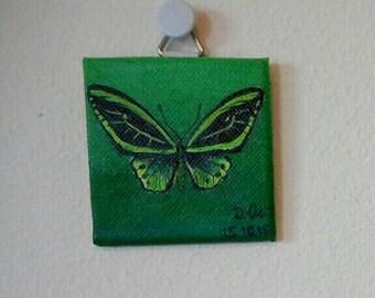 Butterfly green 5x5cm