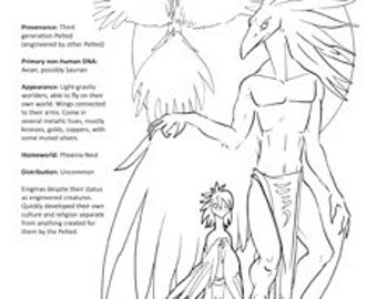 Peltedverse Coloring Page: the Phoenix