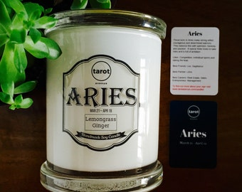 Aries - Zodiac Candle - Lemongrass Ginger