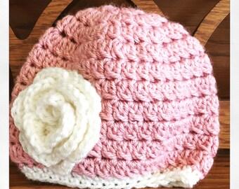 Rose Pink Infant Hat