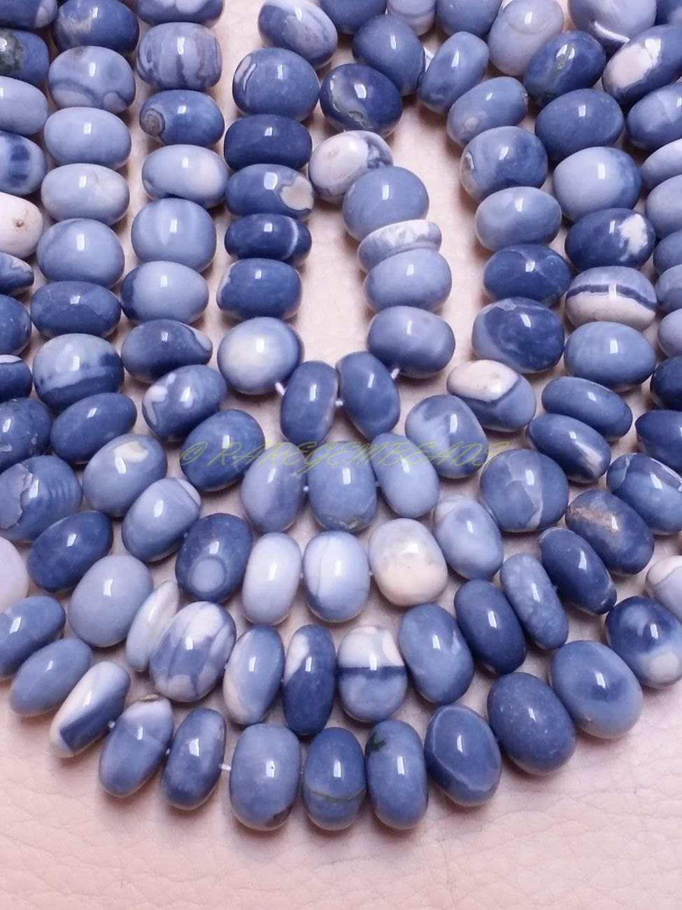 natural peruvian blue opal rondelle blue opal smooth rondelle beads 11 mm size 18 strand. Black Bedroom Furniture Sets. Home Design Ideas