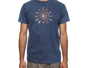 Stonewashed T-Shirt - (Ancient Greek / Cycladic Design) The Circle of Life