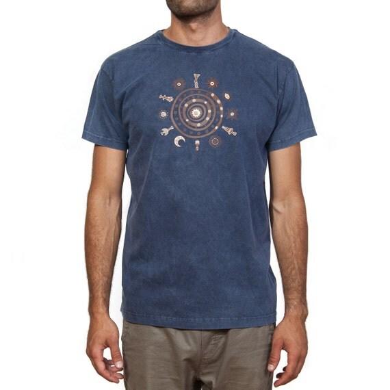 Stonewashed T-Shirt - (Ancient Greek / Cycladic Design) The Circle of Life