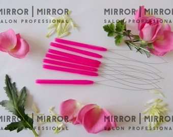 5 Pink Pulling Hoops Loops to fit Micro Ring Hair Extension Tools