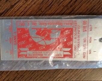 University of Tennessee 1987 Arena Dedication Key Chain Ticket Replica Lady Vols