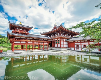 Japan Temple Photo, Large Wall Art, Japan Photography, Japan Decor Ideas, Buddhist Architecture, Glossy, Home Decoration