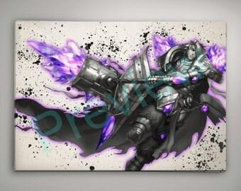 League of Legends Taric, League of Legends Poster, League of Legends Watercolor, League of Legends Wall Decor