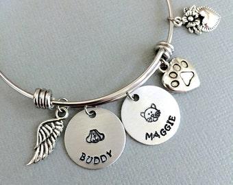 Pet Memorial Bracelet, Dog Memorial, Cat Memorial, Loss of Pet, Paw Print Bracelet, Animal Lover Gift, Sympathy Gift, Pet Remembrance Gift