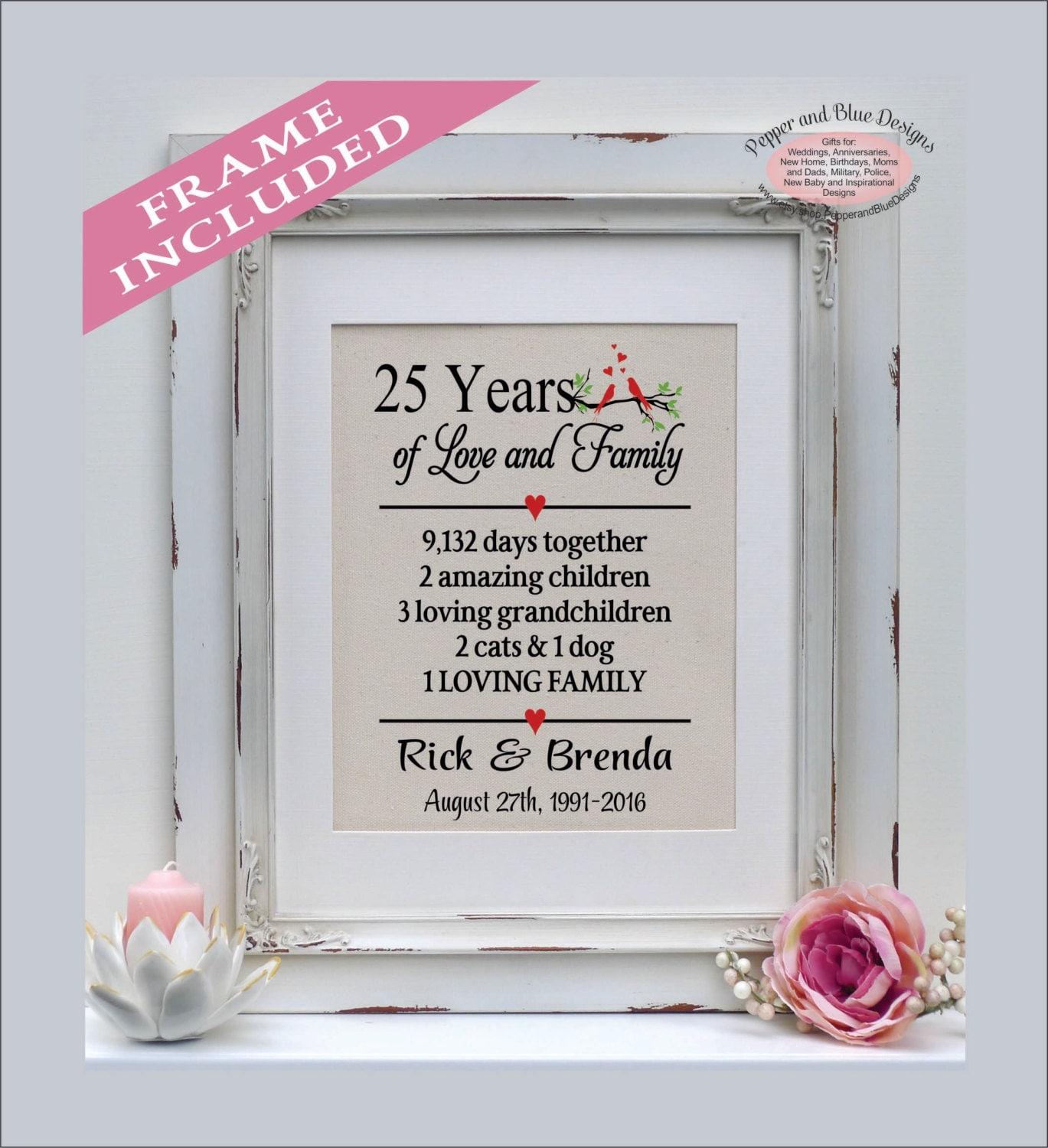 13th Wedding Anniversary Gift Ideas For Her: 25th Anniversary Gift 25 Years 25 Year Anniversary