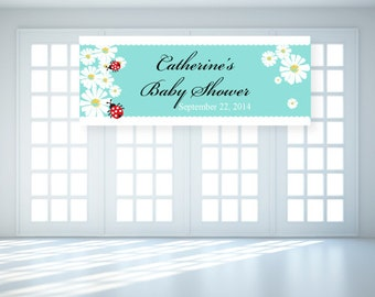 Personalized Lady Bug Baby Shower Banner (FJM565473-LB)