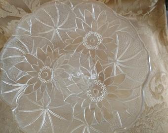 Cut glass platter