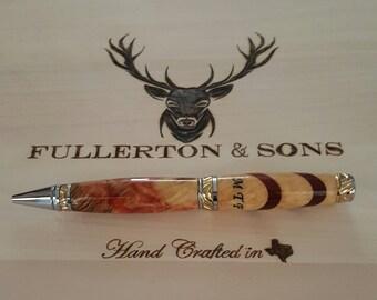 Custom burl wood pen hand turned