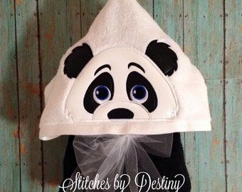 Panda Bear hooded bath towel