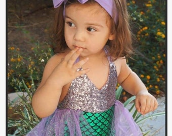 Mermaid Sequin Romper  9-12 months or 18-24 months Ready to Ship!
