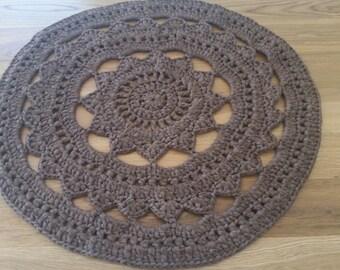 Bedroom Rugs, Area Rugs, Handmade Rug, Nursery Rugs, Round Crochet Rug,