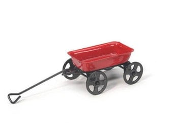 Classic Red Wagon ~ miniature enchanted fairy garden