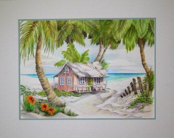Old Florida beach cottage