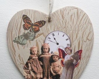 Shabby chic collage heart