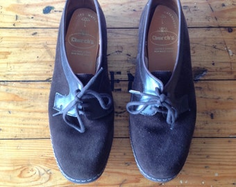 Vintage CHURCH'S Brown Suede Oxfords Sz UK7 Never Worn