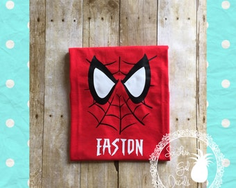 Spiderman Inspired Shirt with Free Personalization