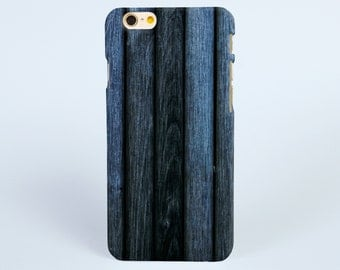 Dark blue timber wood iPhone 7 Plus case iPhone 7 case, iPhone 6 Plus Case, iPhone 6 Case, iPhone 6s Case, iPhone 5s Case Tough iPhone Cases