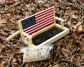 Handcrafted/Hand-Painted Porch Swing Bird Feeder