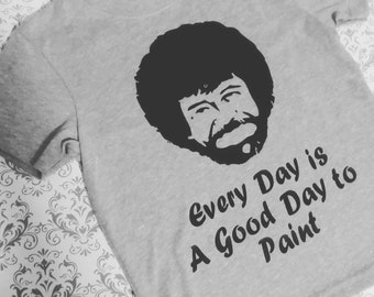 ADULT (BOB ROSS) shirt