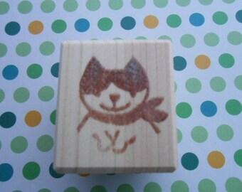 Stamp scarf cat