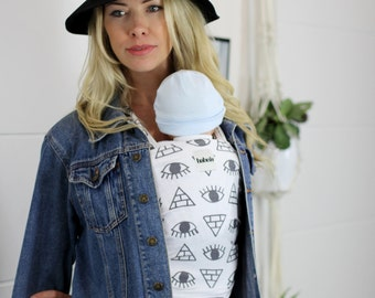 Pyramid Eyes - Stretch Babywearing Wrap Baby Carrier Sling