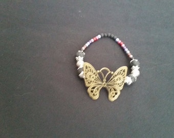Butterfly Diffuser Bracelet with Lava Stones