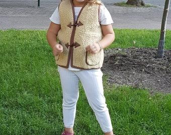 kids wear; kids vest;organic wear; woolen vest;kids clothing; handmade vest; kids gift;