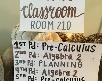 Teacher Classroom Decor