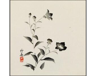 Superb Autumn Flowers Print   Flower Wall Decor   Flower Vintage Print   Japanese  Wall Art   Part 10
