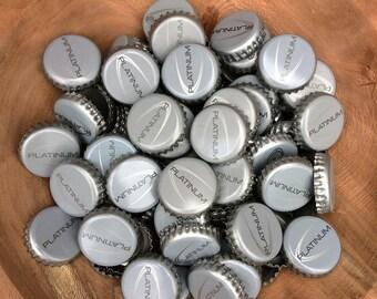 200 Bottle Caps Used Platinum Bottle Caps Craft Supplies