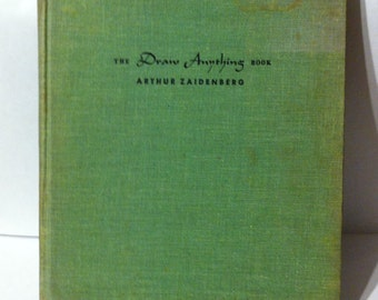 """Free Shipping! 1950's """"Draw Anything Book - First Edition"""