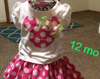 12 mo. Minnie skirt outfit