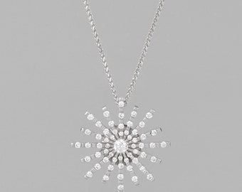 necklace of gold 14 K 68 diamonds 1.36 CT