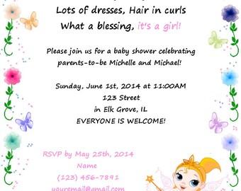 Fairy Garden Baby Shower Invite