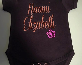 Flower Name Onesie