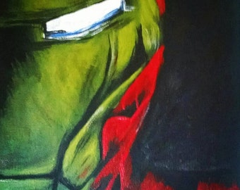 "Marvel Ironman 11"" x 14"" Acrylic Canvas Board Original Painting by Anthony Esquivel-MayTheGeekBeWithYou"