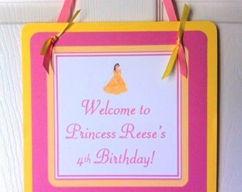 Belle Welcome Door Sign