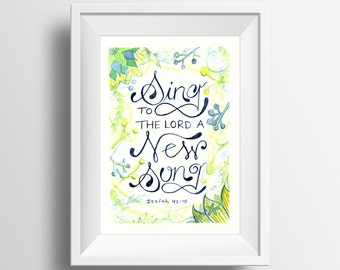 Sing To The Lord Watercolor Print 5x7