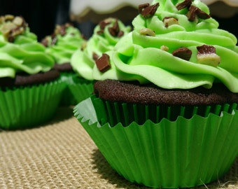 Andes Mint Cupcakes, 1 Dozen, Local Delivery Only