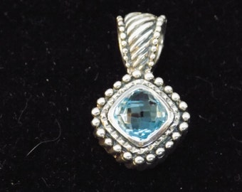 Sterling Silver and Blue Topaz Pendant
