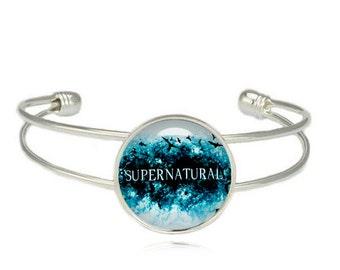 Supernatural Bracelet Cuff Bangle Fandom Jewelry Supernatural Jewelry Cosplay Fangirl Fanboy
