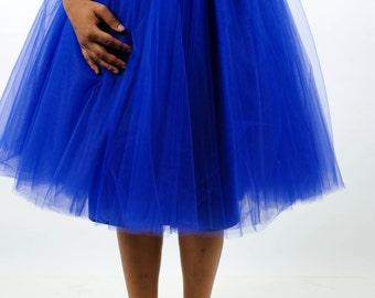 Full Knee Length Tulle Skirt
