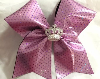 Bubblegum Pink with Crown Cheer Bow