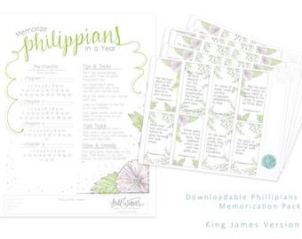 KJV Philippians Memorization Pack