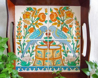 "Tray ""Birds of Paradise"" (Hand-painted)"